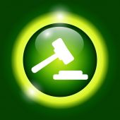 Auction web icon. vector design — Stock Vector