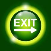 Exit icon - vector illustration  — 图库矢量图片