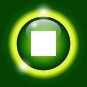 Glossy multimedia icon stop — Stock Vector
