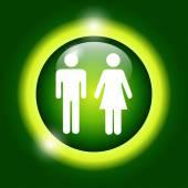 Vector man and woman icons,  — Stockvektor