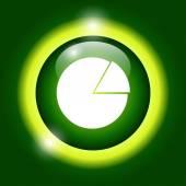 Circular diagram web icon — Stock Vector