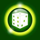 Dices sign icon. Casino game symbol. — Stock Vector