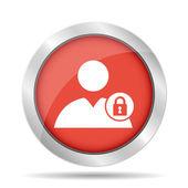 Användaren, låsa ikonen — Stockvektor