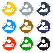 User icon, lock icon — Stock Vector