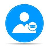 User icon Graduation cap — Stock Vector
