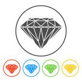 Diamond icon - Vector — Stock Vector