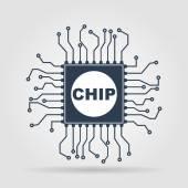 Vector chip icon — Stock Vector