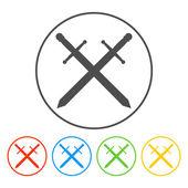 Vektor-schöne Schwert-Symbol — Stockvektor