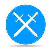 Sword icon vector beautiful — Stock Vector