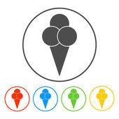 冰淇淋图标 — 图库矢量图片