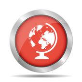 Geography school earth globe web icon. vector illustration. — Stock Vector