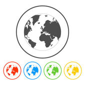 Pictograph of globe — Stock Vector