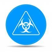Vector biohazard sign or icon — Stock Vector
