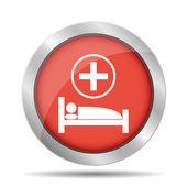 医院的床上 — 图库矢量图片