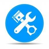 Tools and piston  Icon. Service simbol. Repair singn.  — Stock Vector