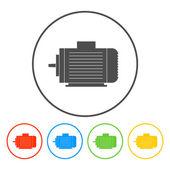 Electric motor icon — Stock Vector
