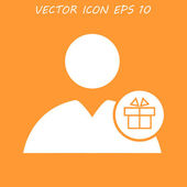 User icon vector present — Stock Vector