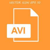 Avi file icon — Stock Vector