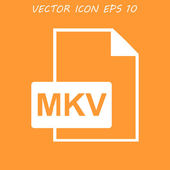 Mkv file icon — Stock Vector