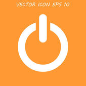 Flat icon of power — Stock Vector