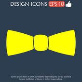 Tie, icon vector — Stock Vector