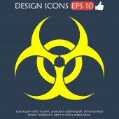 Bio hazard icon - vector web illustration, — Stock Vector