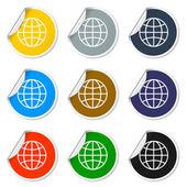 World Globe Icon, pictogram icon — Stock Vector