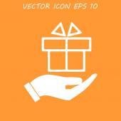 Strony i Dar ikona wektor — Wektor stockowy