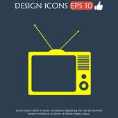 TV vector icon — Stock Vector