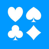 Vector Playing Card Suit Icon Symbol Set. — Stock Vector