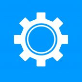 Gears icon, vector illustration. Flat design style. — Stock Vector