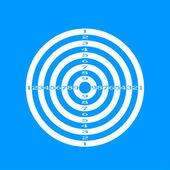 Vector target icon — Stock Vector