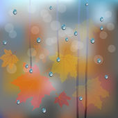 Autumn rainy  — Stock Vector