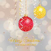 Christmas balls — Cтоковый вектор