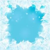 Frozen window — Stock Vector