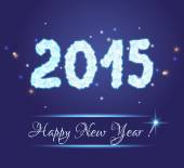 2015 new year — Stock Vector