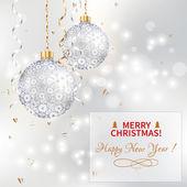 圣诞球 — 图库矢量图片