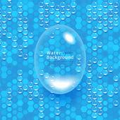 Blått vatten — Stockvektor