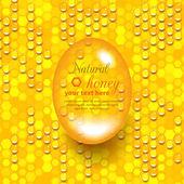 Miel natural — Vector de stock
