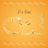 Wedding doves2 — Stock Vector