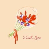Bouquet of hearts — Stock Vector