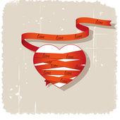Coeur et ruban — Vecteur