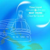 Travel Cruise — Vector de stock