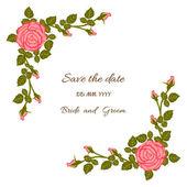 Róża karty — Wektor stockowy