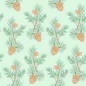 Seamless pine cone — Stock Vector