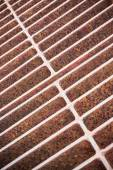 Rust steel grating of Drain cover — ストック写真