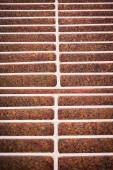 Rust steel grating of Drain cover — Foto Stock