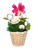 Jasmine flowers in basket gift for lover — Stockfoto