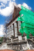 Renovation of old Buddhist church, Thailand — Stock Photo