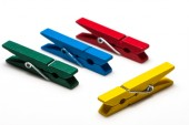 Colorful wooden peg — Stock Photo